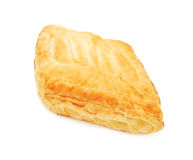 Puff pastry. Isolated on white Stock Photo
