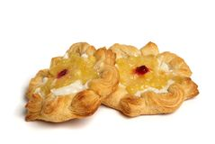 Puff pastry. Isolated on white Royalty Free Stock Image