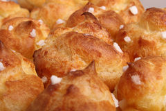 Puff pastry. Group of puff pastry with sugar Royalty Free Stock Images