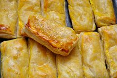 Puff Pastry. With cheese from the oven Royalty Free Stock Photo