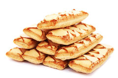 Puff pastry. On white background Stock Photography