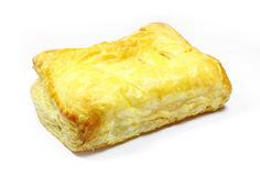 Puff pastry. On white background Stock Photo