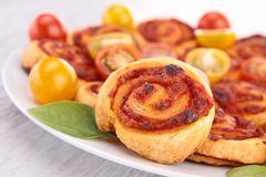 Puff pastry appetizer Royalty Free Stock Photo