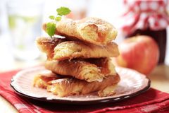 Puff pastry with apple filling Royalty Free Stock Images