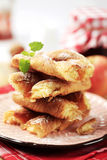 Puff pastry with apple filling Stock Images