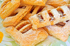 Puff pastry with apple jam. Royalty Free Stock Photography
