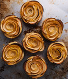 Puff pastry with apple shaped roses Stock Photo