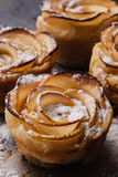 Puff pastry with apple shaped roses Royalty Free Stock Photography