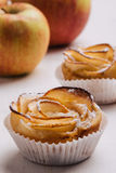 Puff pastry with apple shaped roses Stock Photography
