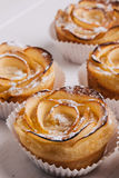 Puff pastry with apple shaped roses Royalty Free Stock Photos
