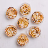 Puff pastry with apple shaped roses Royalty Free Stock Photo