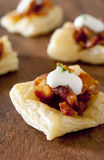 Puff Pastry Bacon Appetizers Stock Images