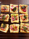 Puff pastry on baking tray Royalty Free Stock Photography