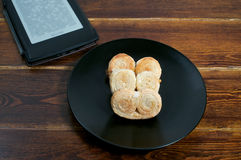 Puff pastry with book Stock Image