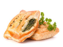 Puff pastry bun isolated on white background. Stock Photos
