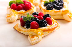 Puff pastry cakes Stock Photography