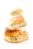 Puff pastry with cheese Royalty Free Stock Photography