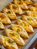 Puff pastry with cheese Royalty Free Stock Images