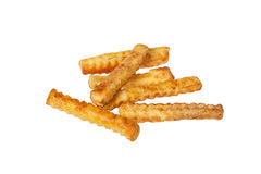 Puff pastry cheese sticks. On isolated background Stock Image