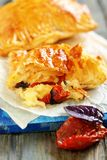Puff pastry with cheese. Stock Images