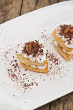 Puff pastry with chocolate Stock Photos