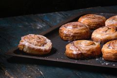 Free Puff Pastry Cinnamon Rolls Stock Images - 109622394