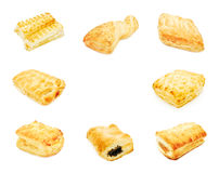 Puff pastry collage Stock Photos