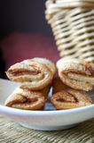 Puff pastry cookies. Cookies made from traditional French puff pastry Stock Photos