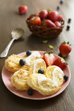Puff pastry cookies Stock Image