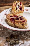 Puff pastry with cranberry jam Royalty Free Stock Images