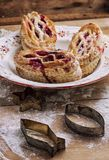 Puff pastry with cranberry jam Stock Images