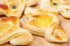 Puff pastry with curd