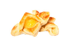 Puff pastry with curd Royalty Free Stock Image