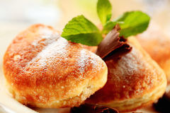 Puff pastry donuts Stock Images