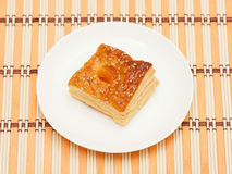 Puff pastry with dried apricots Stock Image