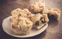 Puff pastry dry cookies Stock Images