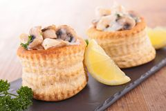 Puff pastry filling with mushroom Royalty Free Stock Photo