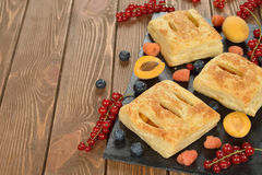 Puff pastry with fruit Royalty Free Stock Photo