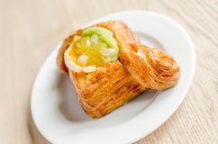 Puff pastry with fruits Royalty Free Stock Image
