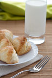 Puff pastry and glass milk Stock Images