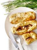Puff pastry with ham Royalty Free Stock Image
