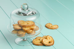 Puff pastry heart cookies Stock Image