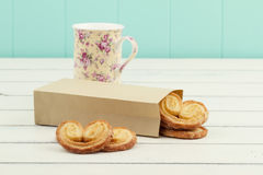 Puff pastry heart cookies Royalty Free Stock Photo