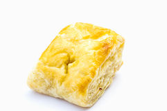 Puff pastry on isolate backgroud. Puff pastry on isolate white backgroud Stock Photos