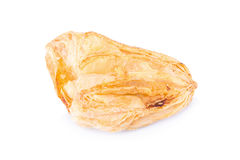 Puff pastry isolate on white Royalty Free Stock Photography