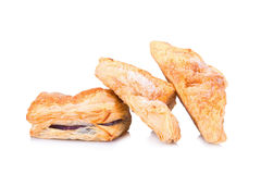 Puff pastry isolate on white Stock Image