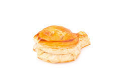 Puff pastry isolate on white Stock Photography