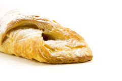 Puff pastry isolate on white Royalty Free Stock Photo