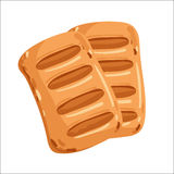 Puff pastry isolated cartoon illustration Royalty Free Stock Photography