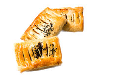 Puff pastry isolated on white background. Royalty Free Stock Photography